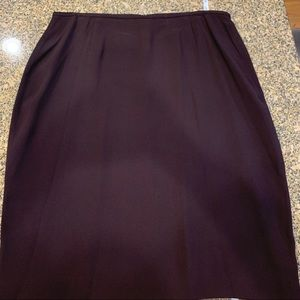 Vintage Ellen Tracy choc brown pencil skirt sz 16